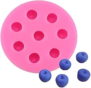 4本/セット水果果?模具3d草莓、壁紙子、覆湯子和?莓硅??糖模具肥?加入模具?入入物、?融化模具(Blueberry)