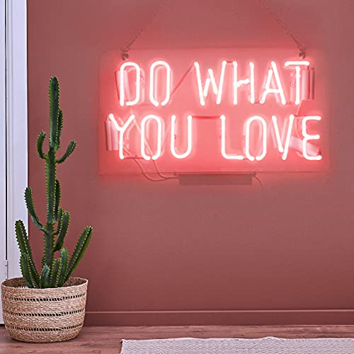 Neon Signs Pink Do What You Love Neon Lights, Neon Light Sign Real Neon Lamp, Wall Sign Art...