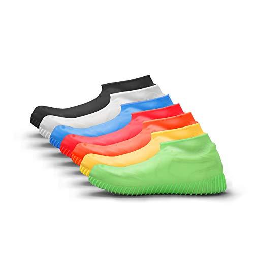 accessu Shoe Cover Regenschutz Regenschuh Schuhschutz Schuhüberzieher (schwarz, L (41-45))