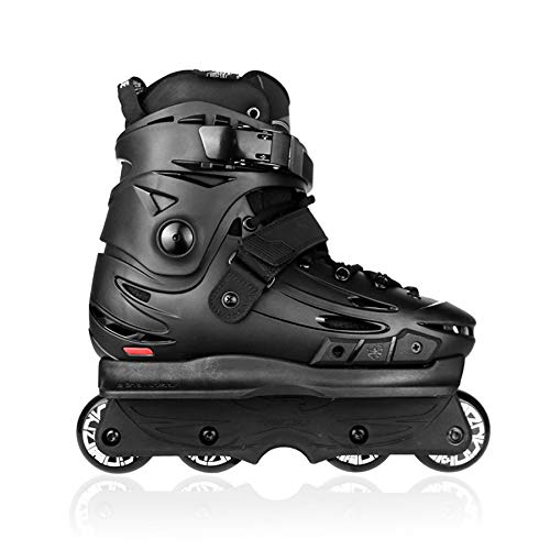 Aggressive Inline Skates Street Trick Roller Skating Shoes Free Skating Extreme Patines Black 42