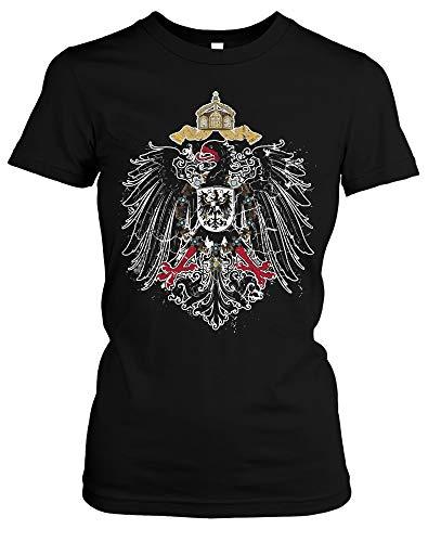 Kaiserreich Damen Girlie T-Shirt | Deutschland Preußen Deutsches Kaiserreich (XXL)