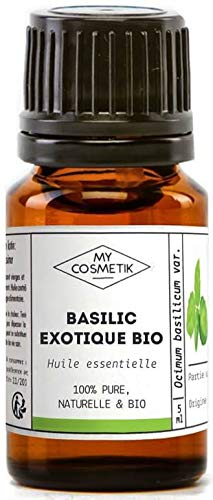 Huile Essentielle de Basilic Exotique Bio AB - 100% pure et naturelle HEBBD - MyCosmetik - 30 ml