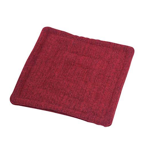 acerto 40416 Wollfilz Sitzkissen - 40x40cm, rot 100% griechische Schafwolle Weich & warm