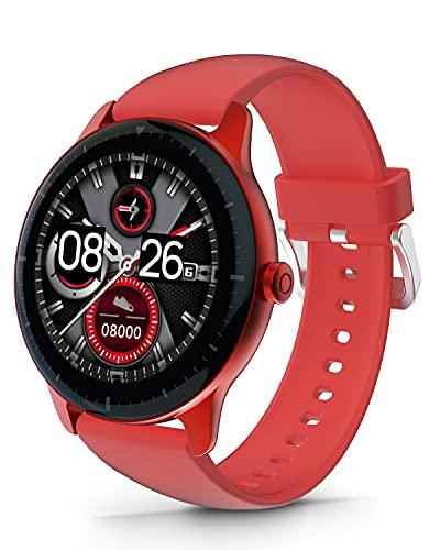 DOOGEE CR1 Smartwatch Hombre, Reloj Inteligente Mujer Impermeable IP68 con Pulsómetro, Monitor de Sueño, 1.28 Inch Reloj Deportivo Niños 13 Modos para Android iOS, 30 Días en Espera, Gris