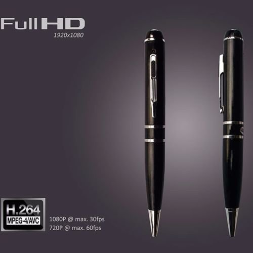 BYD - HD 1080p Mini SPY Pen Camera nascosta fotocamera Pen Video Recorder DVR USB registrazione Spy Camera con built-in 32GB di memoria
