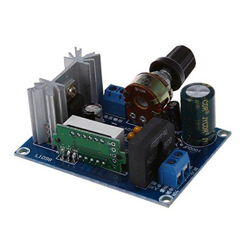 Gaoominy LM317 Regulador de Voltaje Ajustable Medidor LED del modulo de Fuente de alimentacion de Paso hacia Abajo