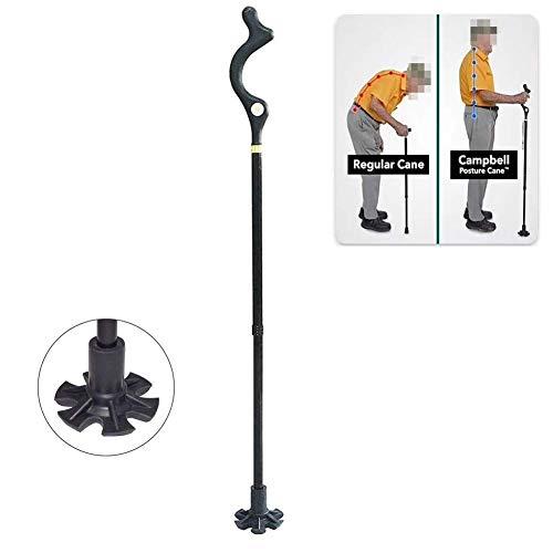 DANTB Bâtons de randonnée, bâtons Ajustables de randonnée avec Antishock et système Quick Lock, télescopique, Pliant, Ultraléger pour Senior Trekking, randonnée, randonnée,A+b