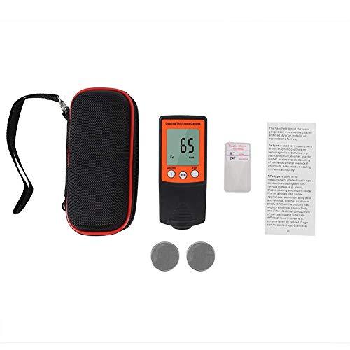 Yongenee Medidor de espesor de revestimiento digital para coche (naranja)