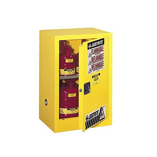 Armario de seguridad Certeo, 889 x 457 x 591 mm, 1 puerta, color amarillo, para materiales peligrosos