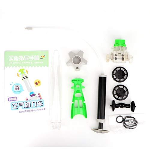 April Geschenk GeschenkAir Power Lernspielzeug,DIY Air Power Car, DIY Air Power Assemble Modellauto Langlebig und umweltfreundlich Lernspielzeug Set Air Power Car Spielzeug für Z