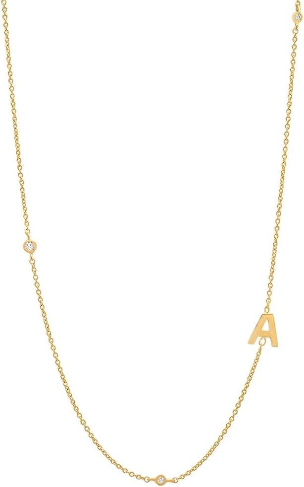 925 Sterling Gold Letter Plain Pendant Choker Charm Initial A M Necklace 26 Letter Women Fine Jewelry Alphabet