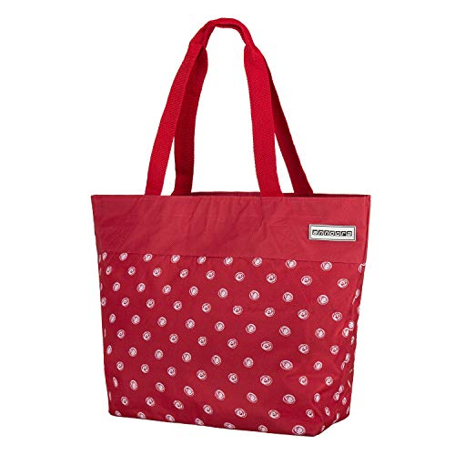 anndora Shopper 17 Liter Damen Handtasche rot weiß gepunktet