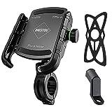 iMESTOU Bike/ Motorcycle Phone Holder Aluminium Handlebar/ Rear-View Mirror Cellphone Mount Sturdy for 3.5-6.8 inch Smartphones