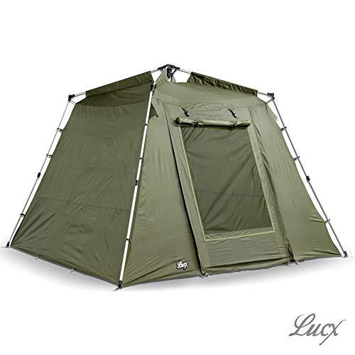 Lucx® Marder Angelzelt Bivvy 1-2 - 3 Mann Karpfenzelt Campingzelt Carp Dome 2 Man Fishing Tent