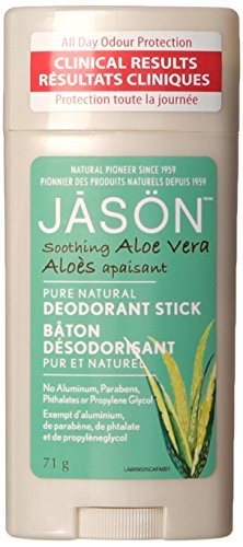 Jason Soothing Aloe Vera Aluminum and Paraben Free Deodorant Stick, 2.5 Ounce by Jason Natural Cosmetics
