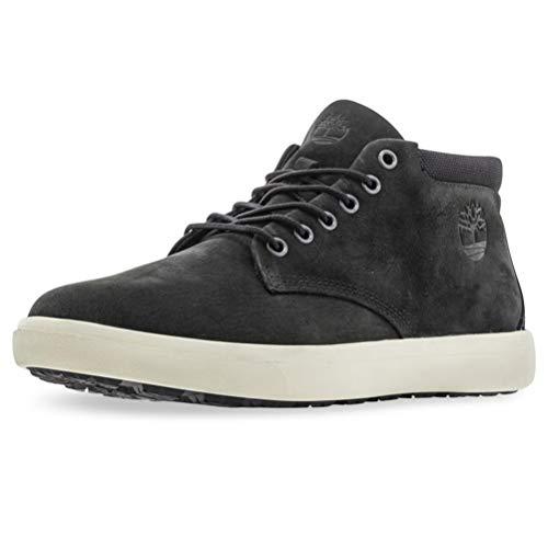Timberland Ashwood Park Leather, Stivali chukka Uomo, Nero (Black Nubuck), 44 EU