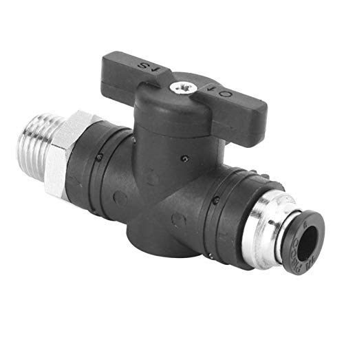 Conector rápido de montaje neumático 6mm tubo válvula de mano pequeño volumen para tubería neumática para sistema neumático (BC6-03)