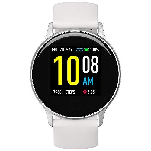Smartwatch UMIDIGI Uwatch 2S, Orologio Fitness Tracker Uomo Donna Bluetooth Smart Watch Impermeabile 5ATM Cardiofrequenzimetro da Polso Contapassi Sportivo Activity Tracker per Android iOS - Bianca