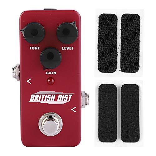 Mini efecto de distorsión duradero NUX Twinote British Dist para accesorios de repuesto de guitarra eléctrica