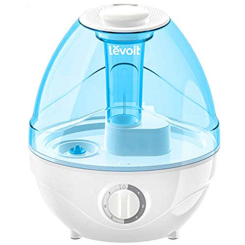 LEVOIT Humidifiers for Bedroom and Babies (BPA Free), Ultrasonic Cool Mist, Easy to Clean, Night Light, Lasts up to 24 Hours, 2.4L, Blue