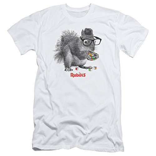 Rubik's Cube - Camiseta - para hombre blanco blanco Small