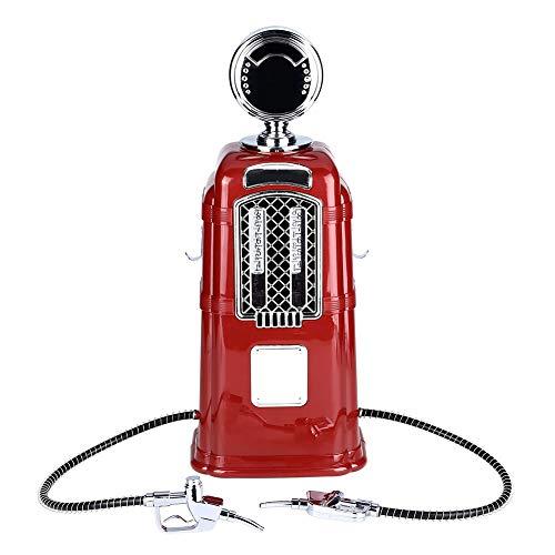 Weinspender, Double Heads Liquor Dispenser, Transparent Layer Bar Zubehör für Bier, Alkohol, Wasser, Saft, Weinrestaurant Rot/Schwarz(red)