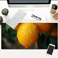 マウスパッドオレンジツリーオーバーサイズグローイングエクステンデッドアンチスリップラバーベースと防水表面特大キーボード800X400Mm