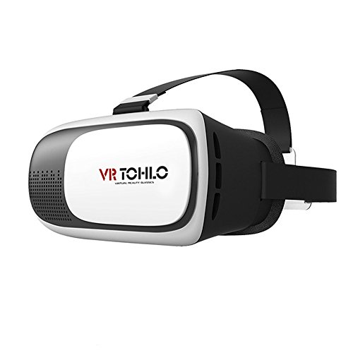 J TOHLO VR 3D Virtual Reality Headset 3D Brille VR für iPhone 7 6 5,...