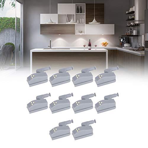 Luce a induzione, luce a sensore per cerniere ad alta luminosità, per armadi, armadi, cassetti, armadi(Luce bianca (senza batteria))