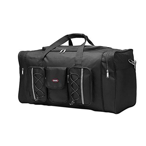 Liying haend bagagli borsone da viaggio Tasche Luggage Bag Valigetta Borsa a mano 65x 35x 30cm, realizzata in tessuto Oxford di viaggio per il fine settimana vacanza, nero