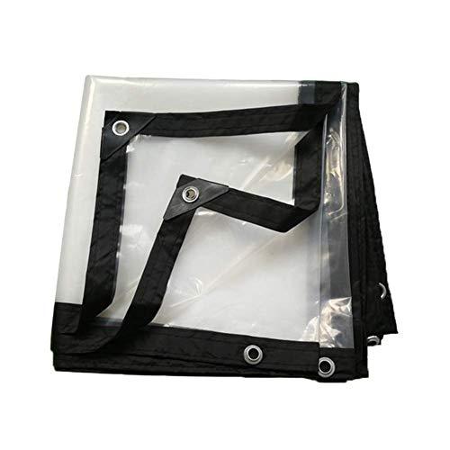 HCYTPL dekzeil, transparant, waterdicht, regendicht grondzeil met ogen, dikte 0,12 mm, 3 x 4 m