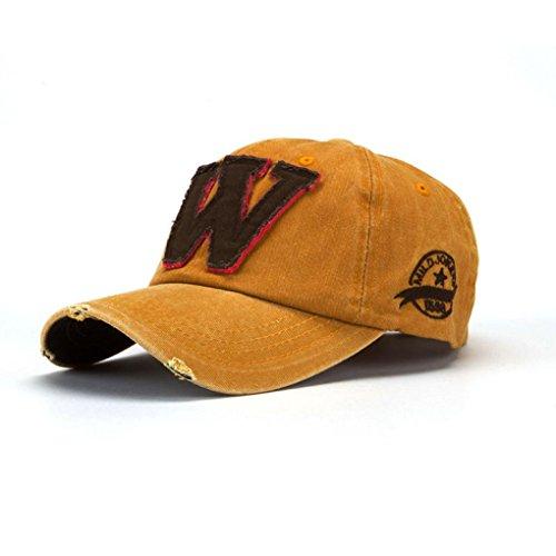 Cappellini con Visiera da Baseball Hip-Hop Unisex, Berretto Mimetico da Uomo e da Donna Estivi Le Lettere W Fanno Il Vecchio
