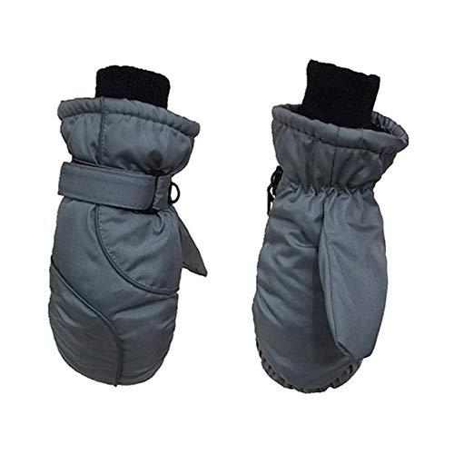 Guantes de esquí Acolchados para niños a Prueba de Viento, Impermeables y cálidos Esenciales para el Invierno - B