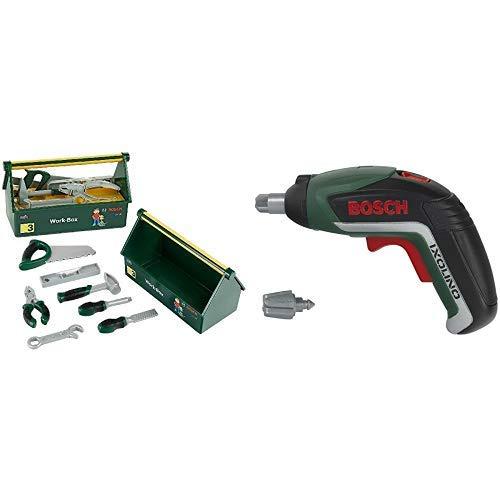 Theo Klein 8573 - Bosch Work-Box & Klein 8300 - Akkuschrauber Bosch Ixolino II, Spielzeug