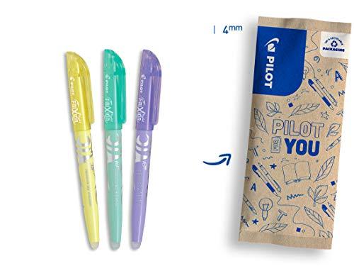 PILOT FriXion Light Soft, radierbarer Textmarker, 3er Set (Pastellgelb, -grün, -violett)