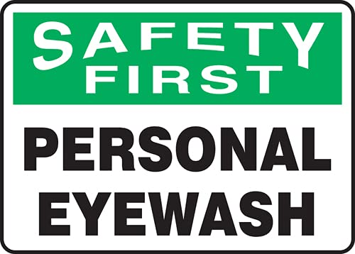 Jendco - OHSA Safety First Sign: x Eyewash Cheap sale 2021new shipping free 10