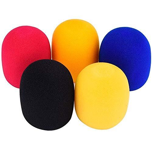5 Couleurs Microphone Casque Pare-brise Eponge Microphone Bonnette Mousse Couverture Micro Karaoke DJ - Couleur Aléatoire