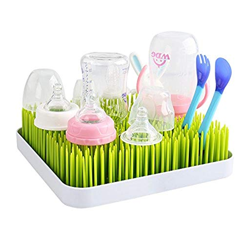 Zuigfles Green Grass zinntheken droogrek Premium turf droogrek keuken afdruiprek droger mat for babyflessen, serviesgoed en accessoires? R