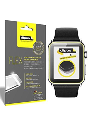 dipos I 3X beschermfolie 100% compatibel met Apple Watch 42mm folie (volledige schermafdekking) displaybeschermfolie