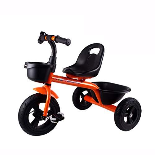 WENJIE Cochecito De Niño Triciclo for Niños Bicicleta De Bebé Coche De Juguete for Bebés De 1 A 6 Años. Bicicleta (Color : Orange)