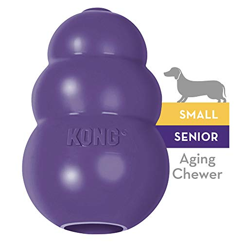 KONG - Senior Dog Toy - Gentle Natural Rubber - Fun to Chew, Chase and Fetch - For Small Dogs