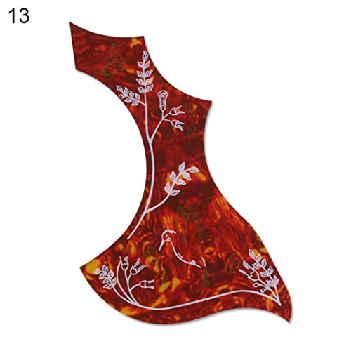 YSHTAN Gitaar Pickguard Orkestrale Instrument Reparatie Gereedschap Akoestische Folk Gitaar Pickguard Celluloid Pick Guard Board Sticker Accessoires - 8#