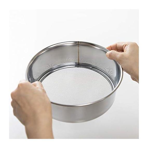 Hanafubuki wazakura 3pcs soil sieve set 8-1/4inch(210mm), made in japan, 3 sieve mesh filter sizes, japanese bonsai… 5 size: φ8. 26 x h 2. 55 in (φ210mm x 65mm)   sieve mesh sizes: 0. 04 in (1mm) 0. 11 in (3mm) 0. 19 in (5mm)   weight: 8. 6oz (245g)   material: frame - stainless steel, sieve mesh - iron made in japan