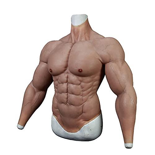 FSYH Gefälschte Muskeln Kostüm - Realistische männliche Brust Silikon Muskelanzug Simulationshaut für Halloween Requisiten Cosplay Maskerade Kostüm / 3