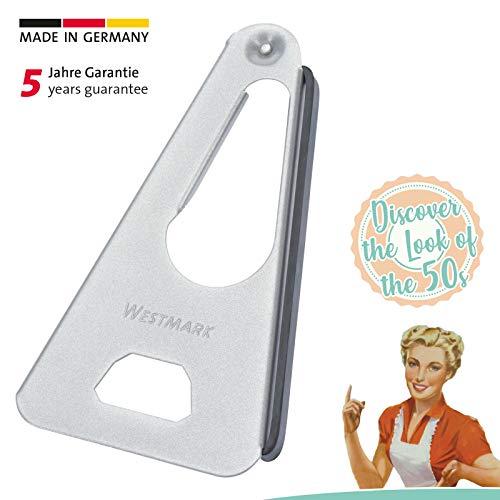 Westmark Vielzwecköffner mit Gummi-Lippe, Retro-Design, Länge: 17 cm, Stahl/Gummi, Twist, Silber,...