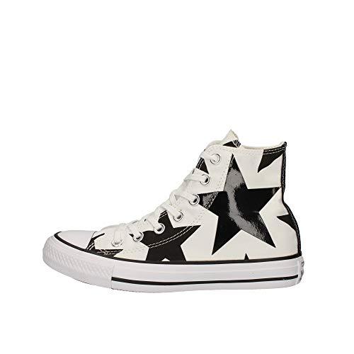 Converse Damen Ctas Hi Sneakers, Mehrfarbig (White/Black/White), 36 EU