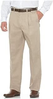 Savane Men's Big and Tall Pleated Performance Chino Pant