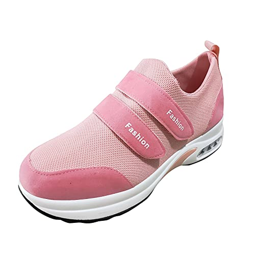 Pianshanzi Zapatillas de deporte para mujer, ligeras, para caminar, informales, transpirables, con plataforma, rosa, 38 EU