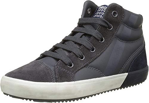 Geox Geox Jungen J Alonisso Boy A Hohe Sneaker, Grau (Dk Grey/Navy), 28 EU