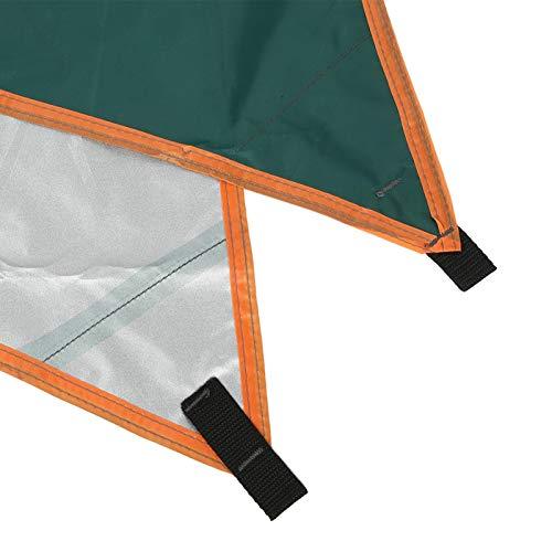 Oreilet Toldo al Aire Libre, toldo para Parasol, toldo Triangular para Exteriores Tienda Simple para Picnic de Acampada(Green)
